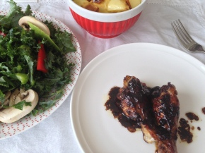 Caramelised pomegranate molasses chickenwings
