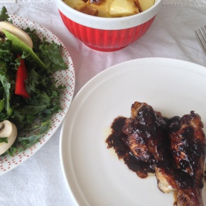 Caramelised pomegranate molasses chicken wings