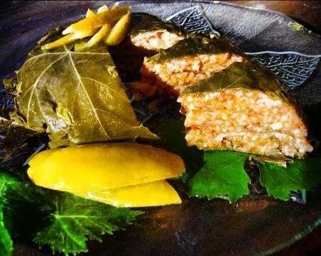 Vine leaves roulade