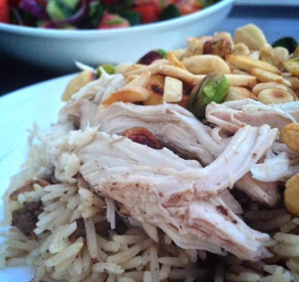 Chicken and rice pilaf