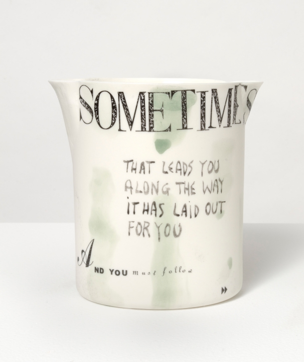 On the Mountain, poetry on hand-painted porcelain vessels