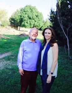 With Cesar Nammour in MACAM's  surrounding grounds. Photograph by Marlena Ayat