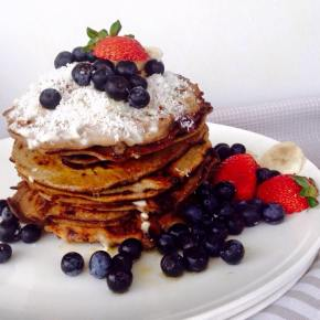 Coconut and Blueberry Pancakes