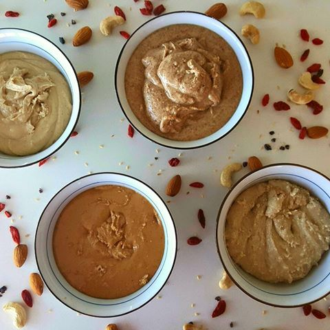 Cashew, almond and tahini butter.