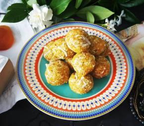 Apricot, Pistachio and Coconut BlissBalls