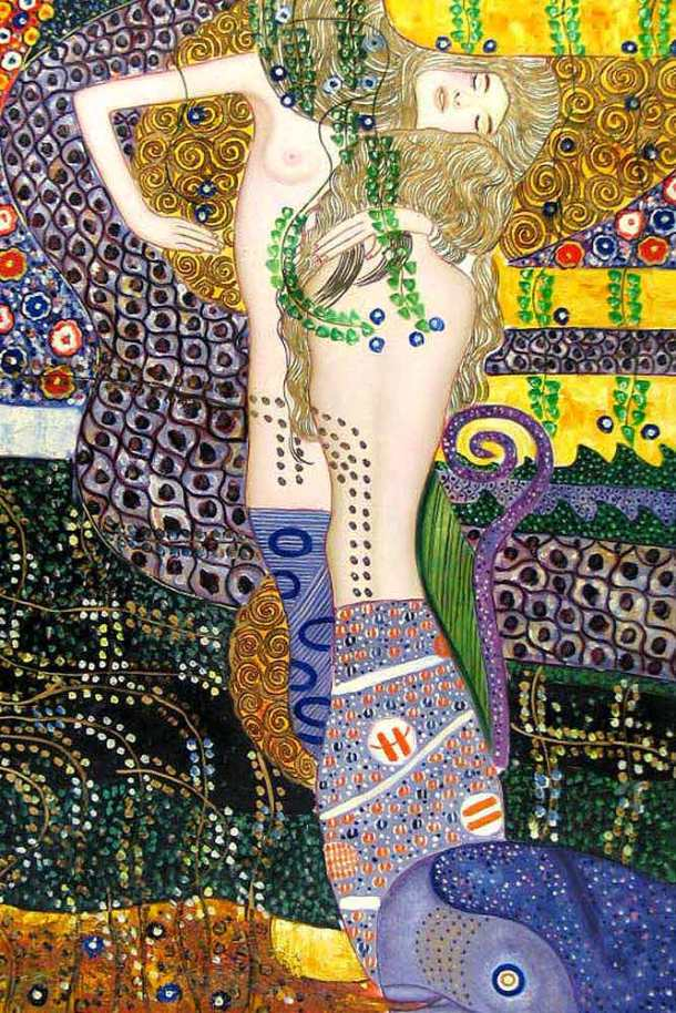 Water Serpents by Gustav Klimt